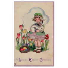 Vintage Easter Day Postcard