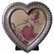 Vintage Heart-shaped Picture Frame