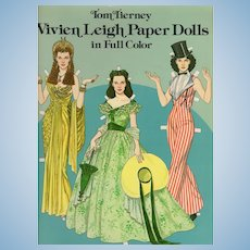 Vivien Leigh Paper Doll Book (Uncut) 1 Doll 28 Fashion Costumes c1981