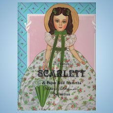 "Madame Alexander Collection's Scarlett Paper Doll (New, Uncut) 12"" Doll with 6 Fashion Costumes"