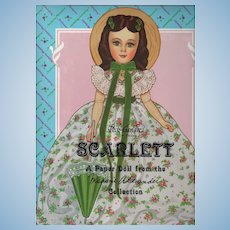 """Madame Alexander Collection's Scarlett Paper Doll (New, Uncut) 12"""" Doll with 6 Fashion Costumes"""