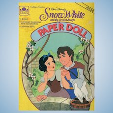Disney's Snow White and the Seven Dwarfs Paper Doll Deluxe Edition Book 2007 (Unused)