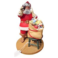 Coca Cola Classic Santa Claus Figurine 5th Limited Edition 1987