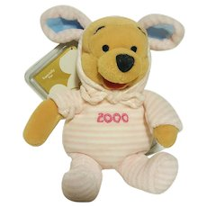 Disney's Winnie the Pooh Easter 2000 Pink COLLECTOR Plush Toy