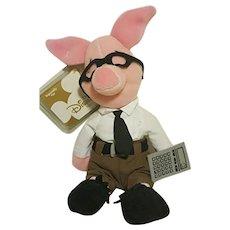 Disney's Winnie the Pooh Nerd Piglet COLLECTOR Plush Toy