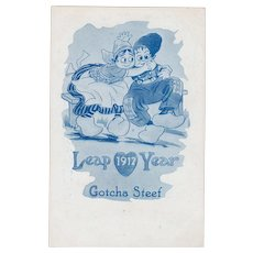 Leap Year Dutch Kids 1912 Advertising Trade Card