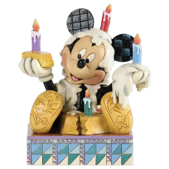 Vintage Mickey with Birthday Cake from Walt Disney Traditions by Enesco
