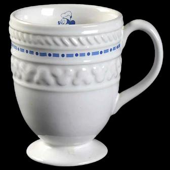Disney's Gourmet Mickey Pedestal Mug (Blue Embossed)