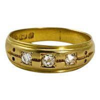 18 Carat Yellow Gold Diamond Gypsy Ring, circa 1880