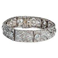 Edwardian 10 Carat Diamond Bracelet c 1910