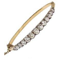 Victorian 18 Carat Gold Diamond Bangle, circa 1880