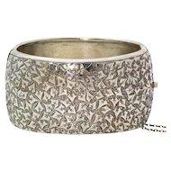Vintage Silver Finely Engraved Bangle