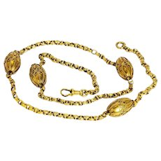 Victorian 18 Carat Gold Orb Necklace
