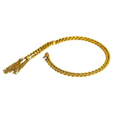Late Victorian 9 Carat Gold Tassel Necklace