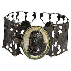Victorian Berlin Iron Work Cuff Bracelet