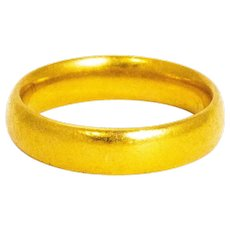 Vintage 22 Carat Gold Wedding Band