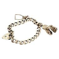 Vintage Silver Equestrian Themed Charm Bracelet