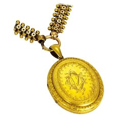 Victorian 15 Carat Gold Collar and Locket