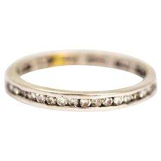 Vintage 14 Carat White Gold Diamond Full Eternity Band