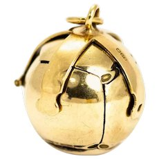 Vintage 9 Carat Gold Masonic Orb Pendant