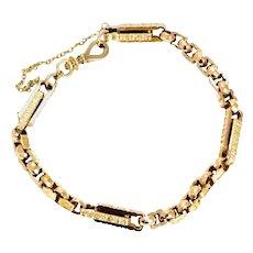 Victorian 9 Carat Gold Chunky Link Bracelet