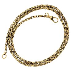 Victorian 9 Carat Gold Chain Necklace with Dog Clip