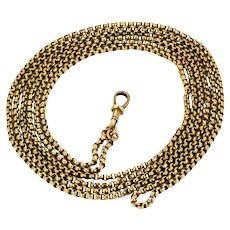 Victorian 9 Carat Gold Longuard Chain Necklace