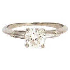 Vintage 1.10 Carat Diamond Solitaire Ring
