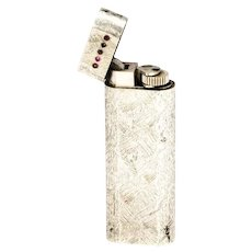 Cartier Vintage Silver and Ruby Lighter