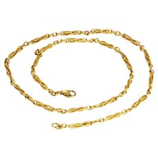 Vintage Twisted 9 Carat Gold Necklace