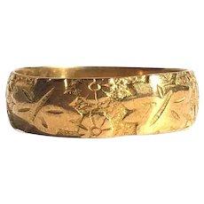Vintage Fancy 22 Carat Gold Band