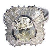 Vintage Diamond and 18 Carat Gold Ballerina Cocktail Ring