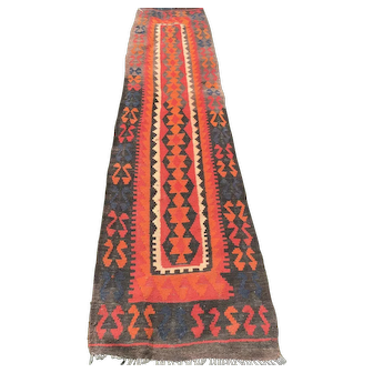 Kilim Runner with Black Border