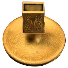 Tiffany Studios Pine Needle Ashtray and Match Holder, #958, in good condition with White Glass (no cracks), circa 1910