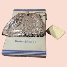 1950's Whiting and Davis Mesh Bag with Original Box