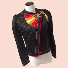 1980's Eugene Alexander Satin Club Jacket