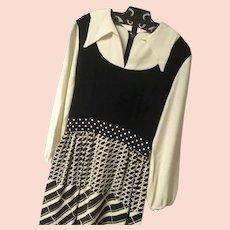 1970's Seamstress-made Mod/Maxi Hostess Dress