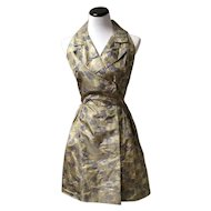 1950's Silk Sleeveless A-line dress