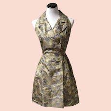 1950's Silk Sleeveless A-line dress