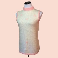1960's Wool and Mohair Sleeveless Sweater