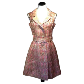 1960's Gino Charles Lurex Dress