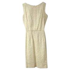 1950's Lee Richard Floral Lace Dress