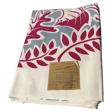 1950's Color-fornia Bucilla Handprint Tablecloth