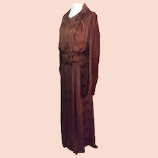 Edwardian 2-Piece Brown Plus Suit