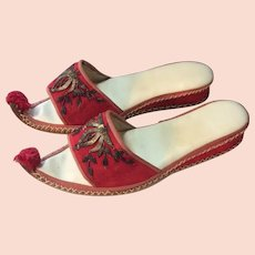 1950's Ethnic Slippers Wire Appliqué from Arabia