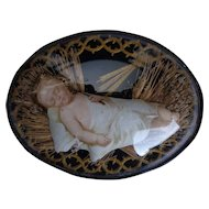 Antique Inspirational French Ex Voto Relic of Christ Child Sleeping