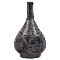 Gorgeous Antique Chinese Blue & White Vase Ming Dynasty