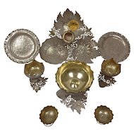 Antique 19thC Sparkling High Purity Silver Table Service-Kashmir