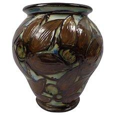 Enormous Antique Danish Art Nouveau Herman Kahler Exhibition Vase
