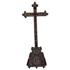 Imposing Antique 18th Century  Jerusalem Pilgrimage Crucifix